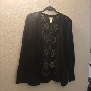 Lace back cardigan L